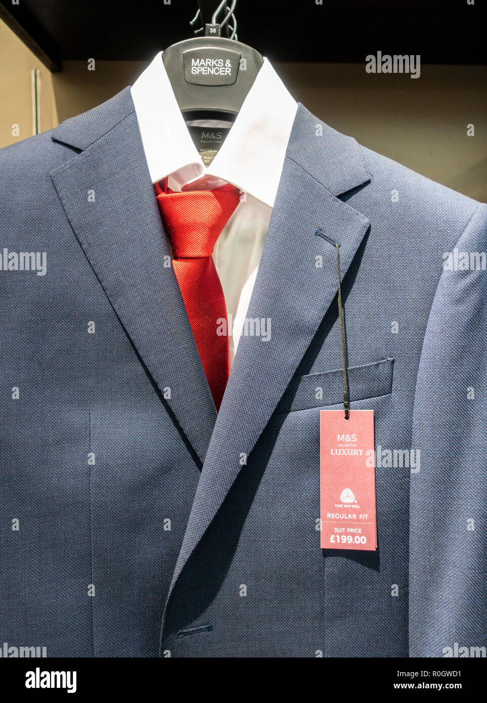 Mens Suits In M S Marks Spencer Store Uk Stock Photo Alamy