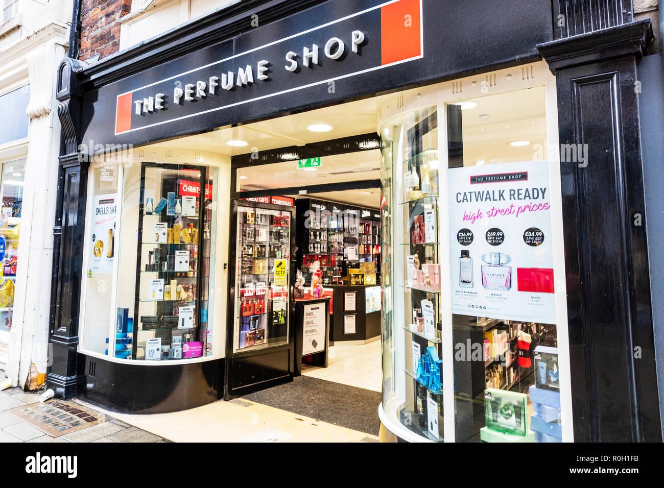 The Perfume Shop high street store UK, The Perfume Shop business, The Perfume Shop logo, The Perfume Shop sign, The Perfume Shop display, The Perfume Stock Photo