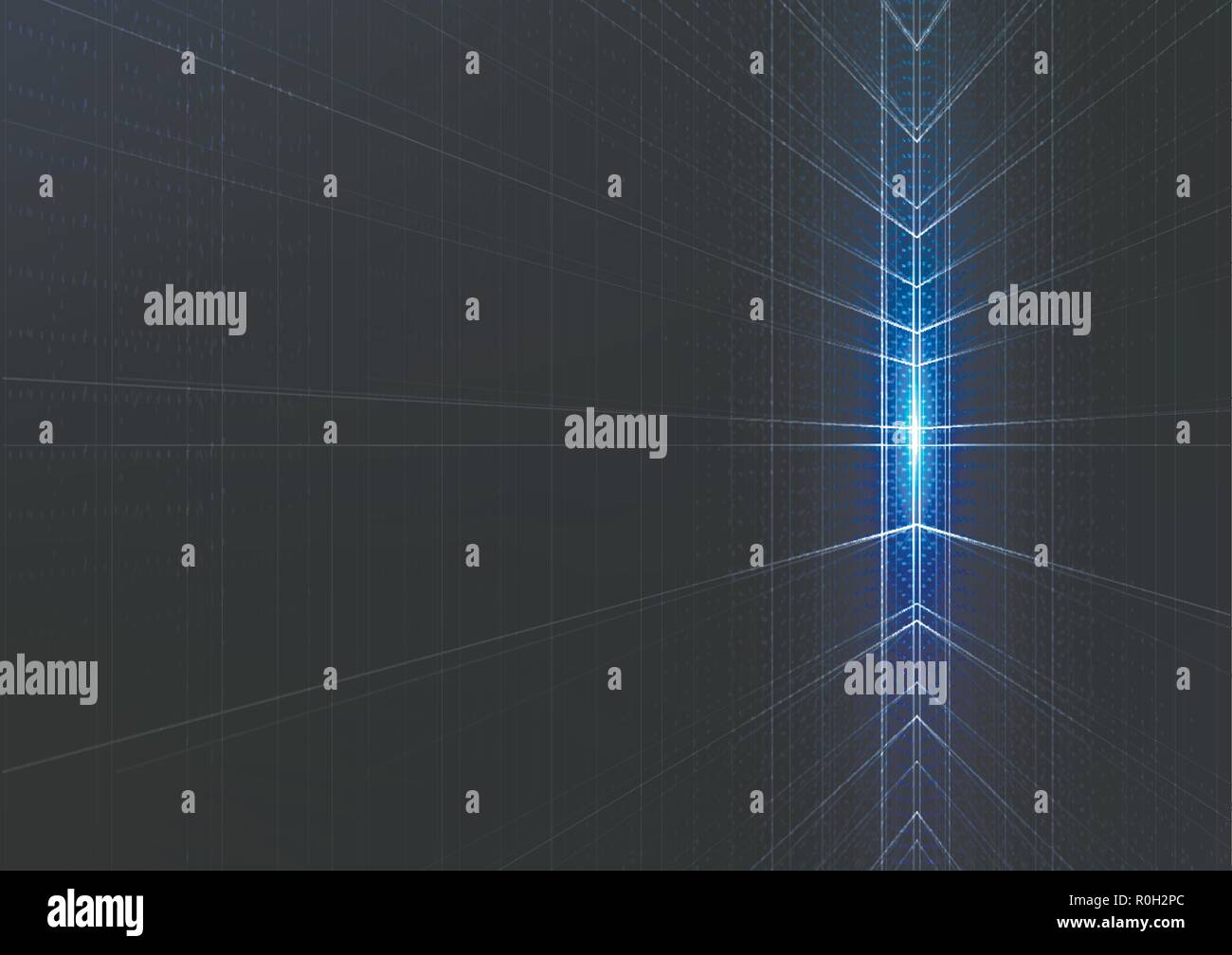 Technological intelligent metric space abstract background template vector design - Stock Vector