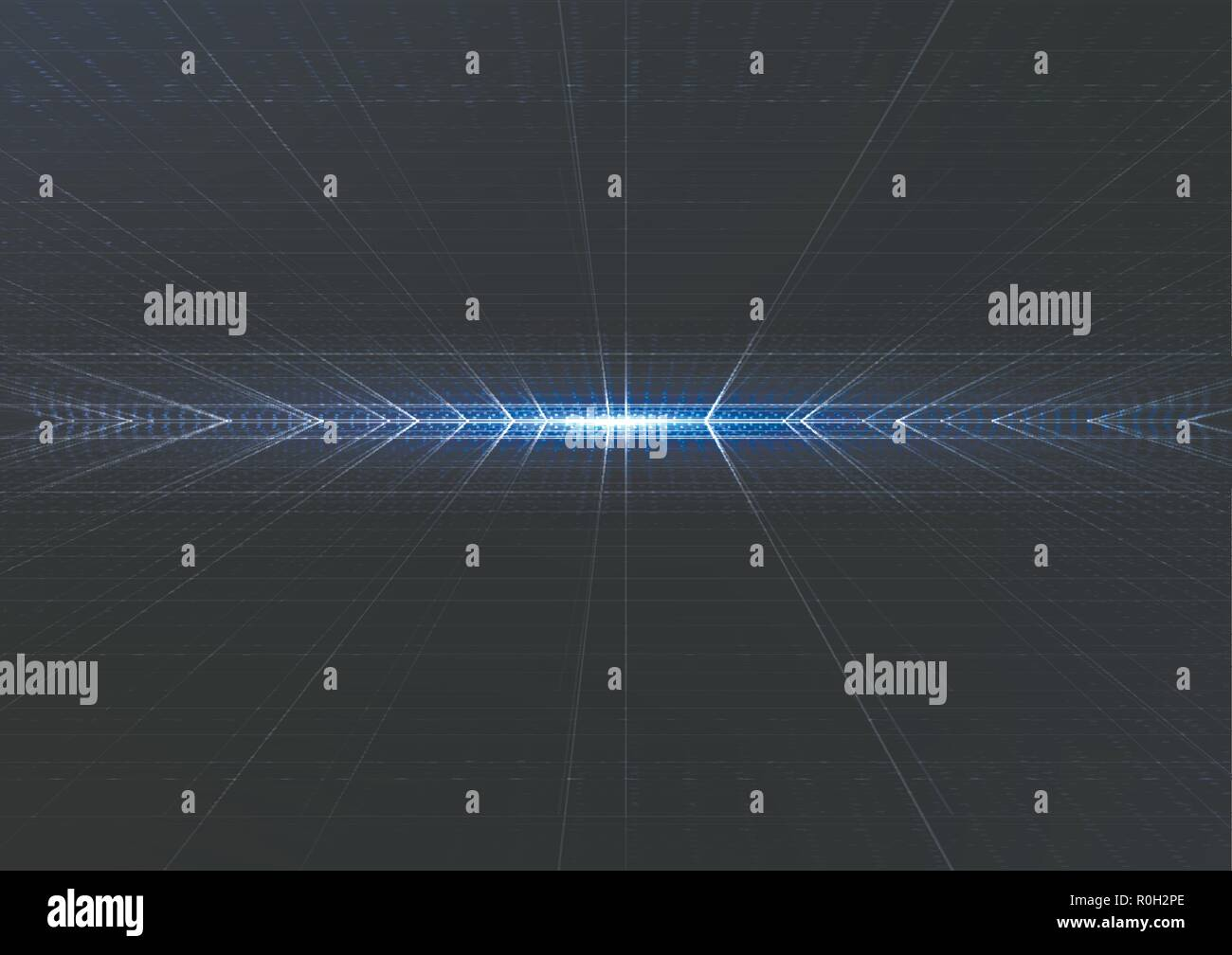 Technological intelligent metric system abstract background template vector design - Stock Vector