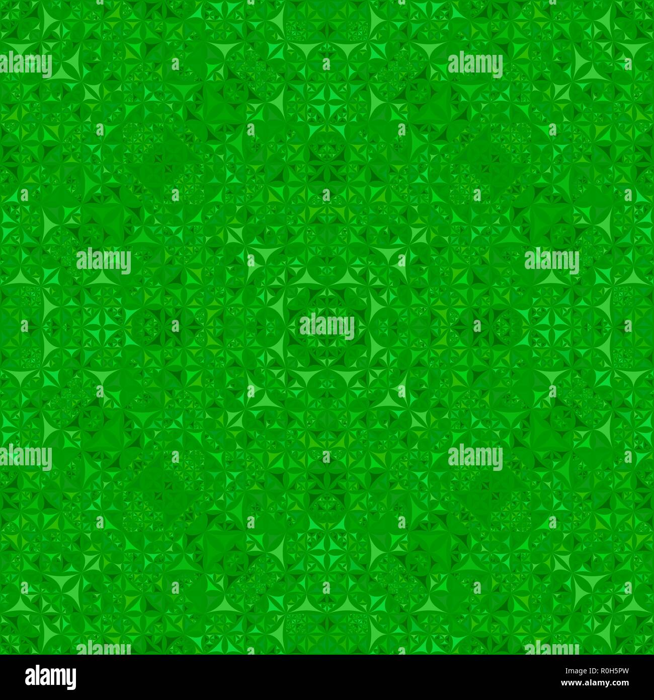 Green Seamless Abstract Curved Triangle Kaleidoscope