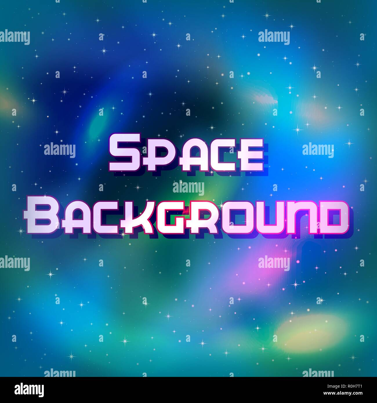 Space Background with Stars - Stock Vector