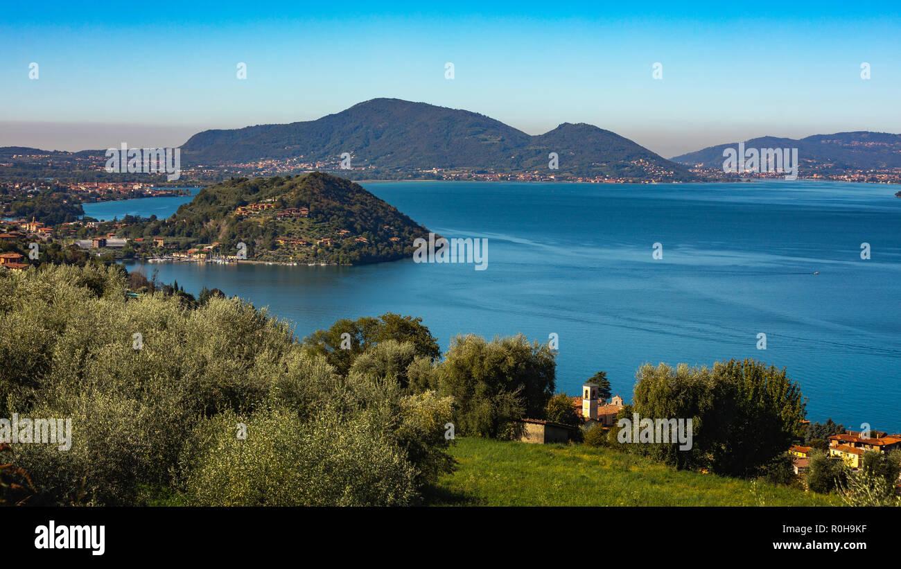 Lake Iseo, Italy - Stock Image
