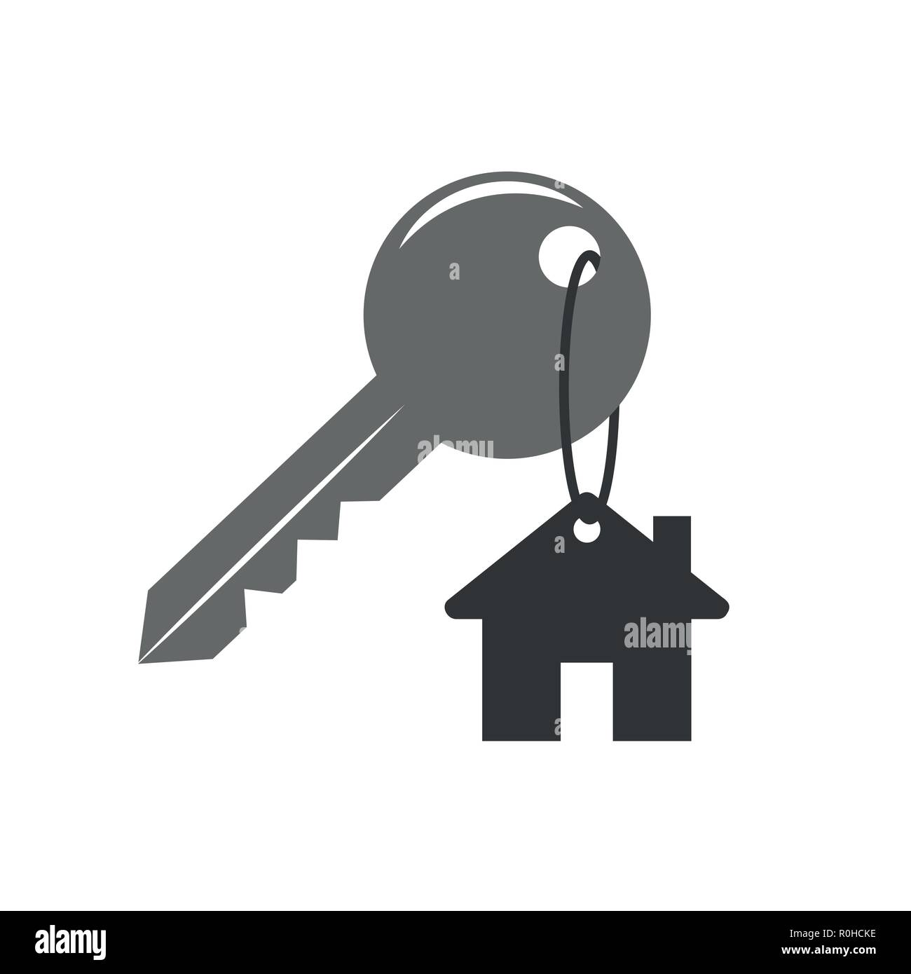 house key security icon vector illustration EPS10 - Stock Vector