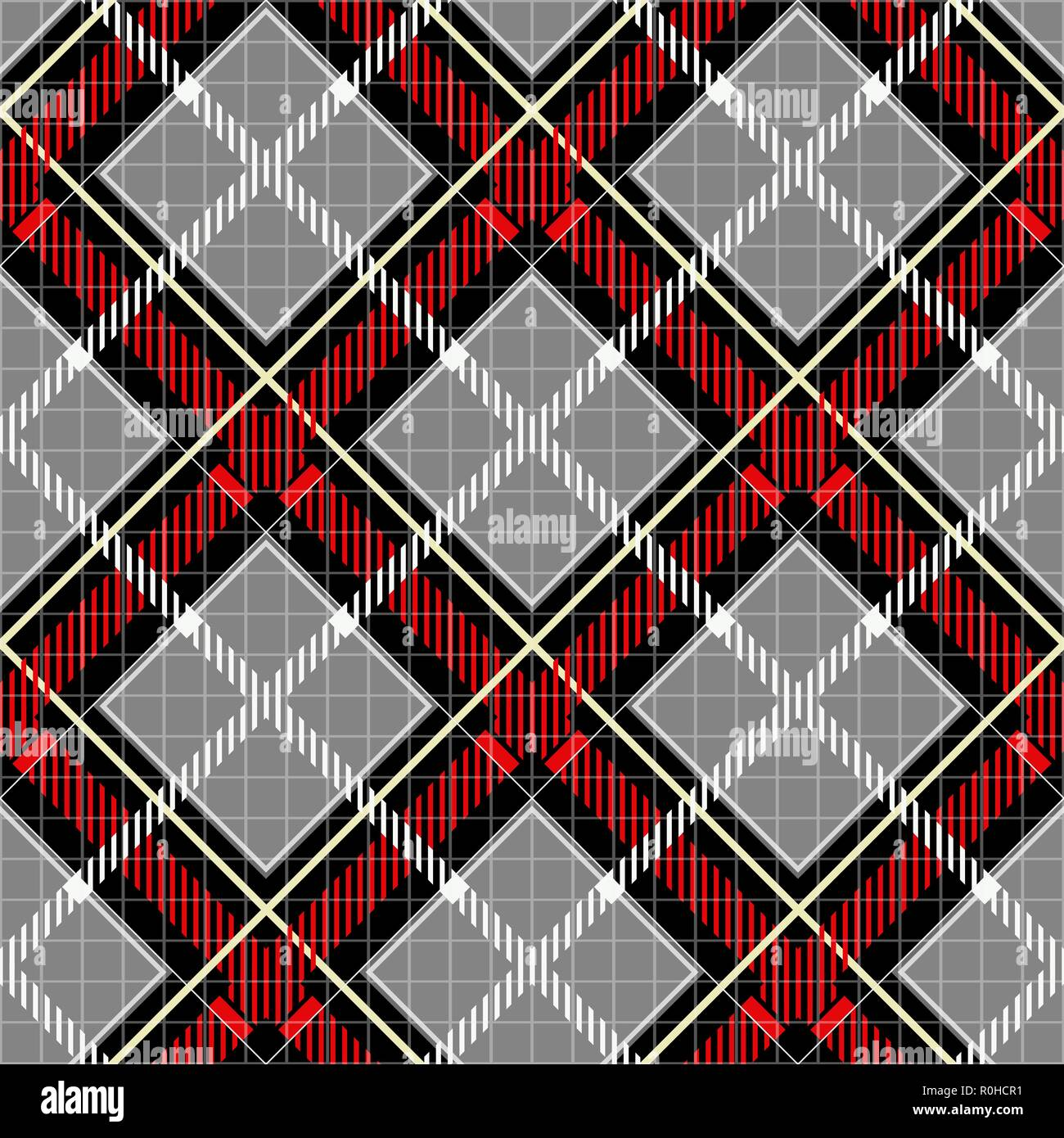 Classical Shirt Seamless Pattern Checkered Plaid Vector Background Retro Textile Design Motifs Chequered Cotton Fabric Checkers With Hatched Strip Stock Vector Image Art Alamy