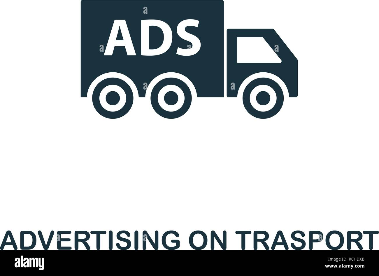 Advertising On Trasport icon. Premium style design from advertising collection. UX and UI. Pixel perfect advertising on trasport icon for web design,  - Stock Vector