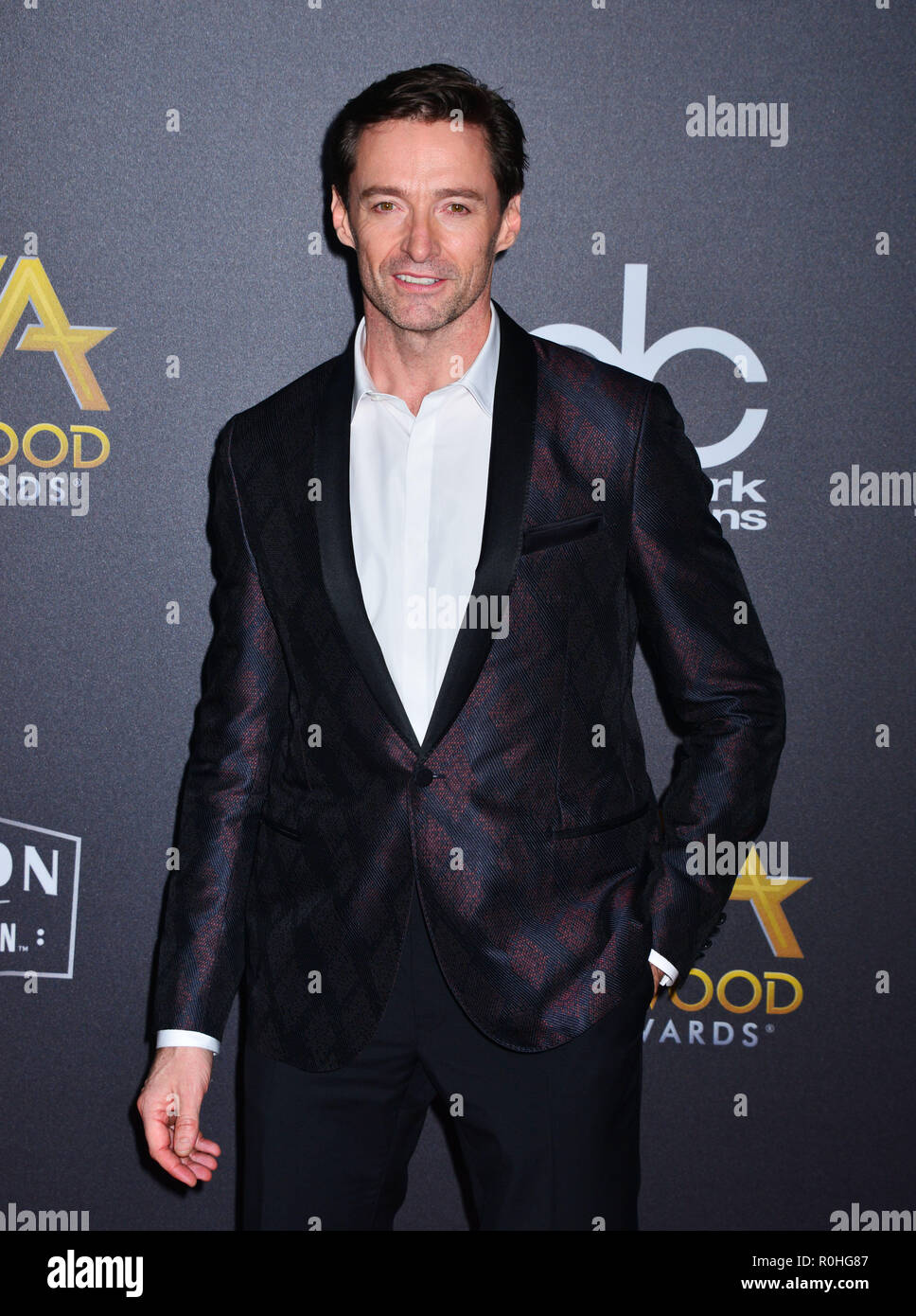 Hollywood, California, USA. 04th Nov, 2018. Hugh Jackman 120 attends the 22nd Annual Hollywood Film Awards at The Beverly Hilton Hotel on November 4, 2018 in Beverly Hills, California. Credit: Tsuni / USA/Alamy Live News - Stock Image