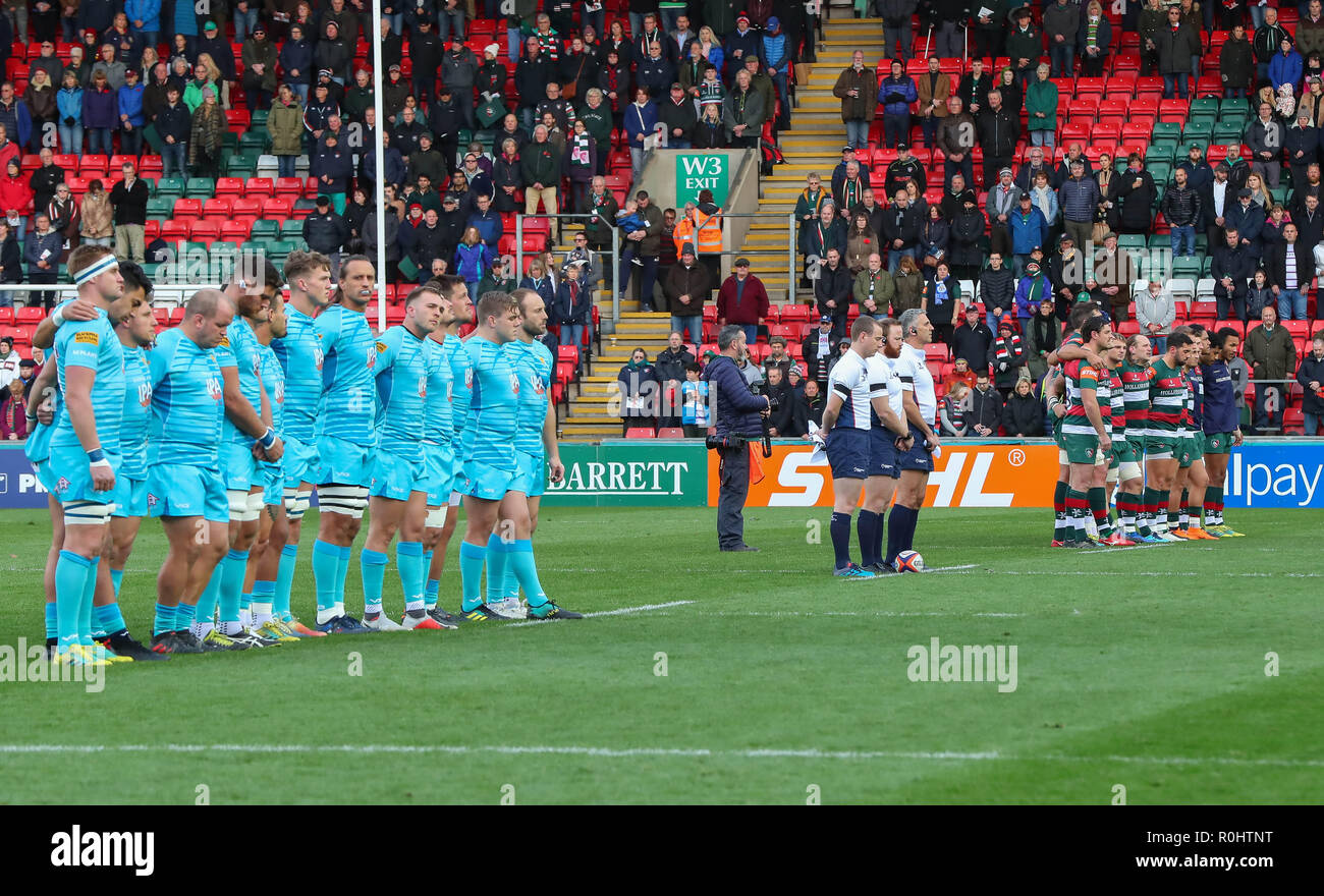 3b1f6283e Leicester, UK. 3rd Nov 2018. Premiership Rugby Union. Leicester Tigers rfc v