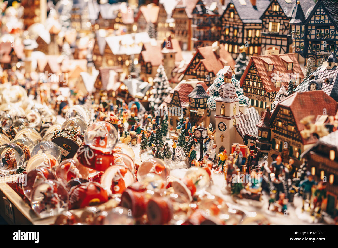 Handcrafted Traditional Christmas Tree Decorations Sold In Salzburg Christmas Market Stock Photo Alamy
