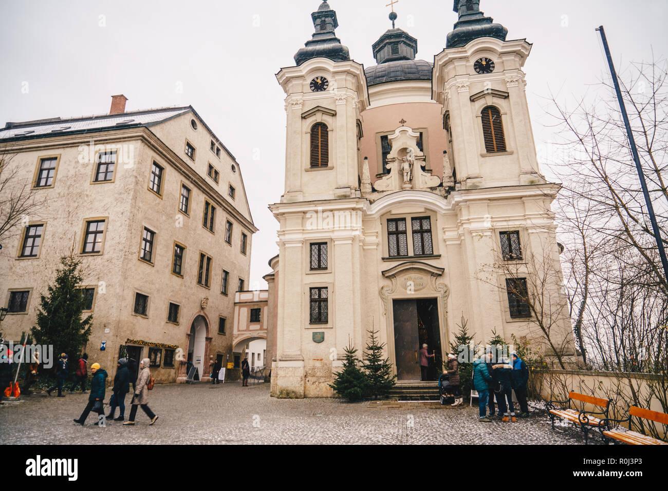 Pfarramt Christkindl Cathloic Church in Steyr Austria near the Christmas Postoffice - Stock Image