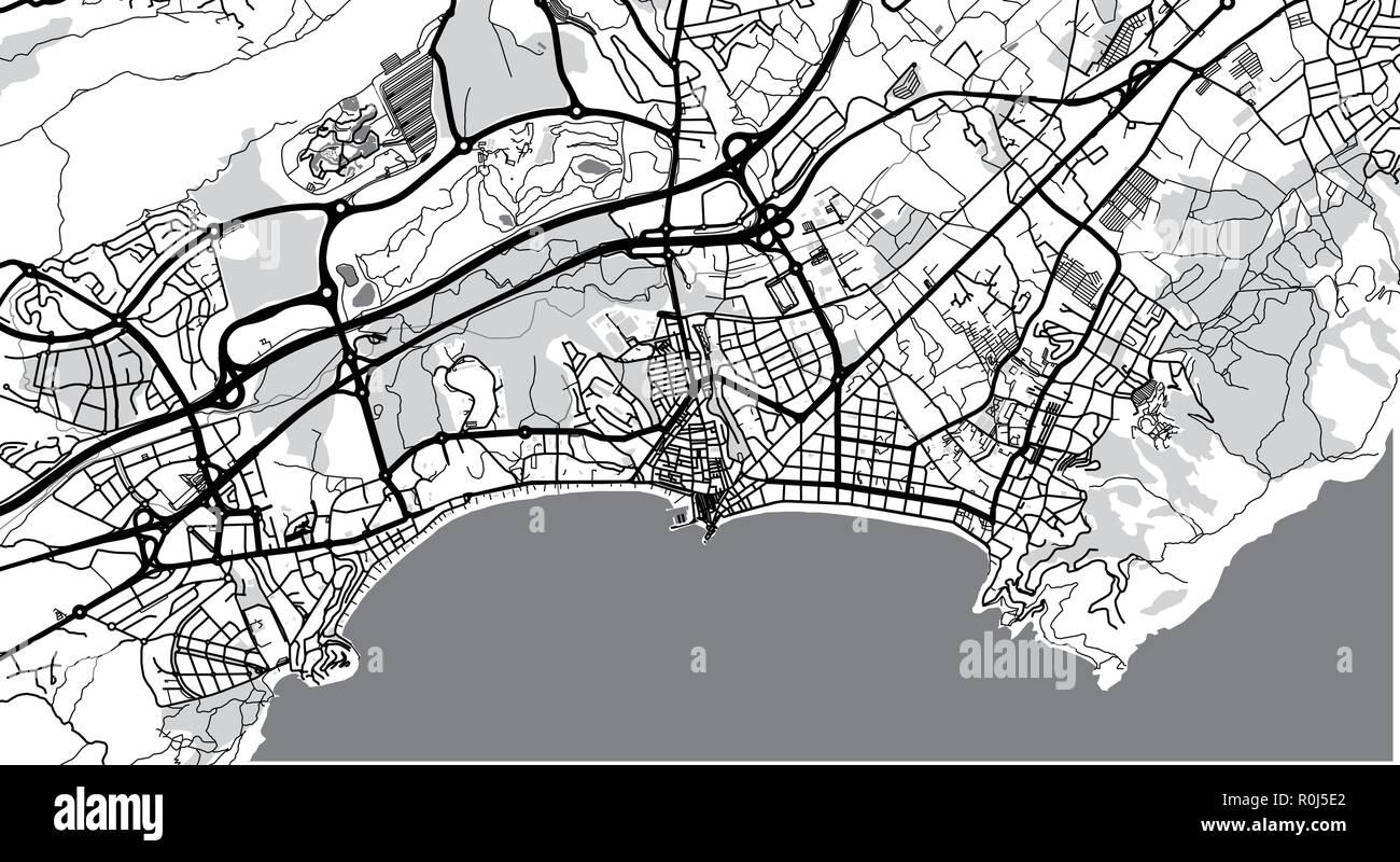 Map Of Spain Benidorm.Urban Vector City Map Of Benidorm Spain Stock Vector Art
