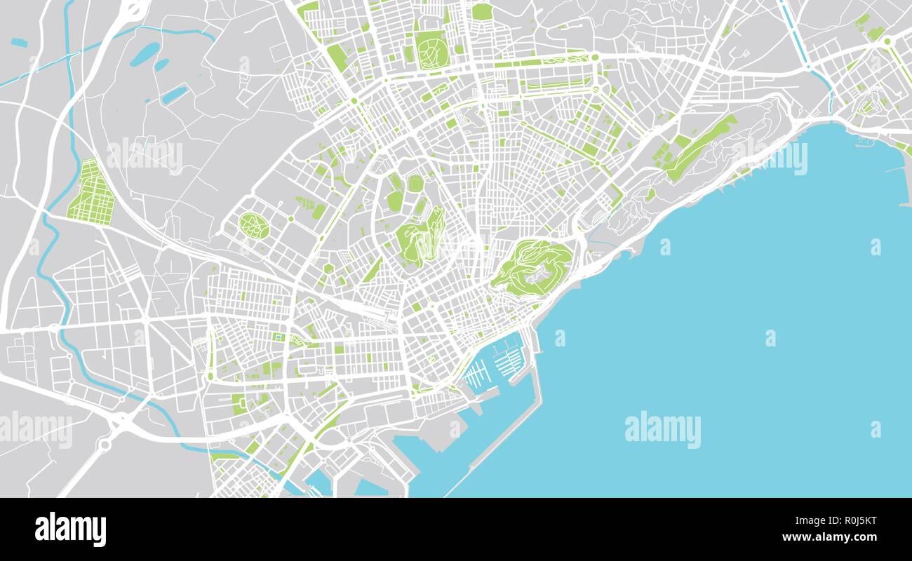 Alicante Map Of Spain.Urban Vector City Map Of Alicante Spain Stock Vector Art