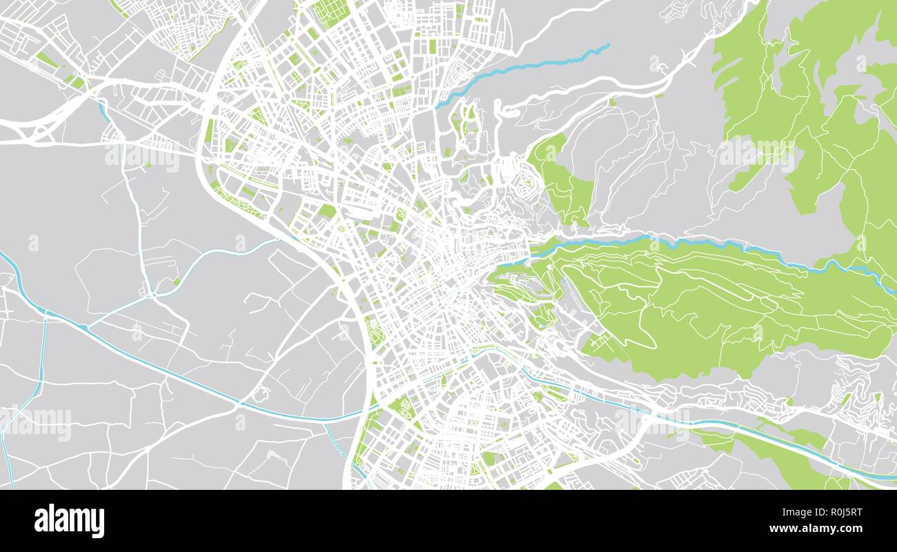 Urban vector city map of Granada, Spain Stock Vector Art ... on