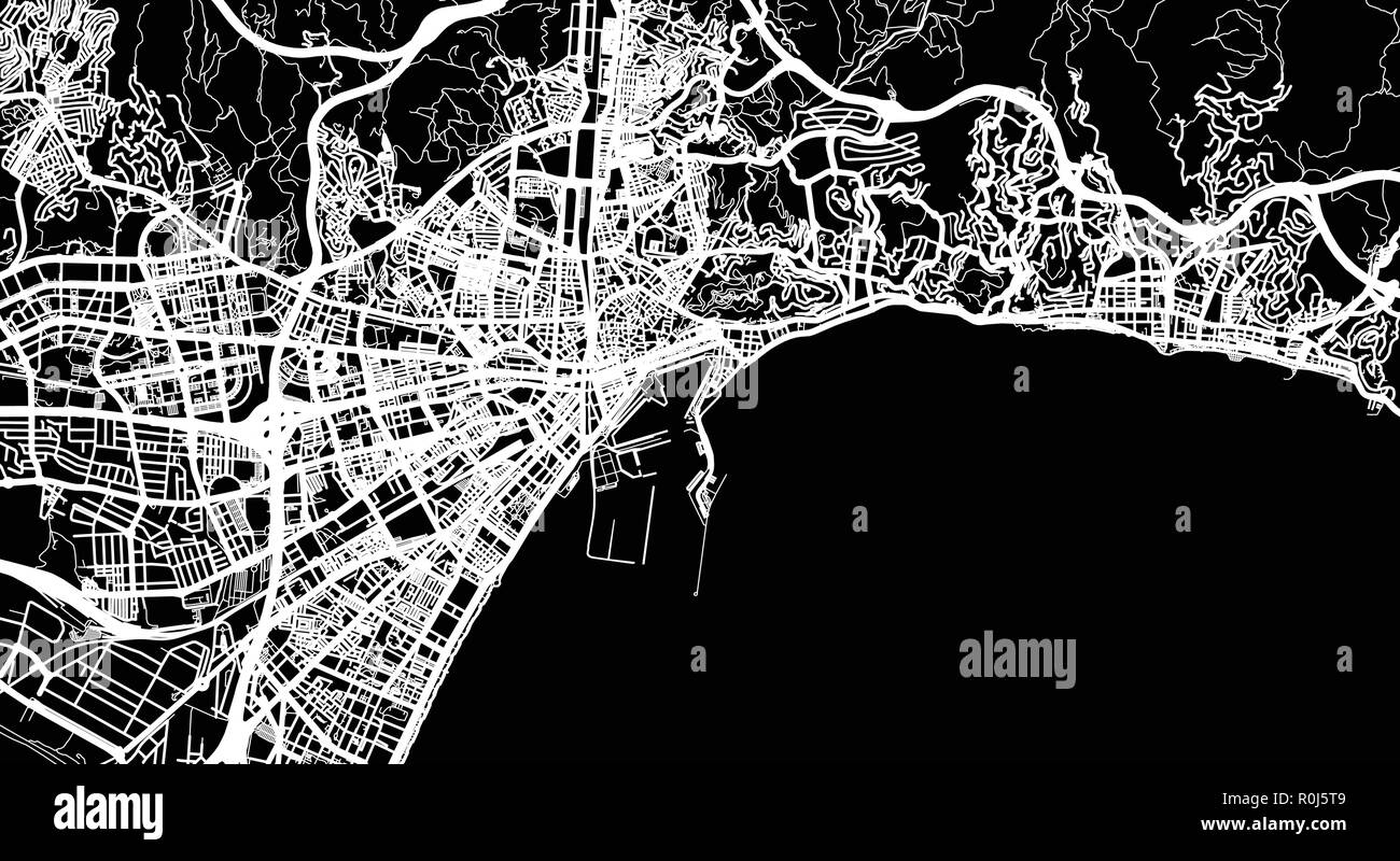 Map Of Spain Malaga.Urban Vector City Map Of Malaga Spain Stock Vector Art