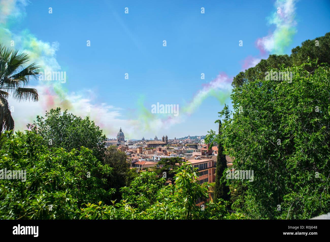 Rome From Pincio Terrace Stock Photos Rome From Pincio