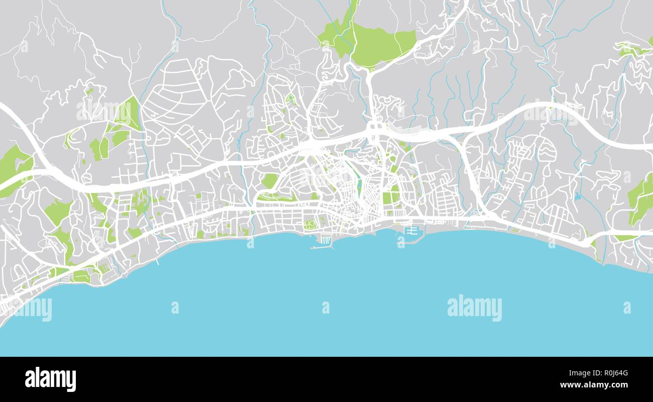 Marbella Map Of Spain.Urban Vector City Map Of Marbella Spain Stock Vector Art