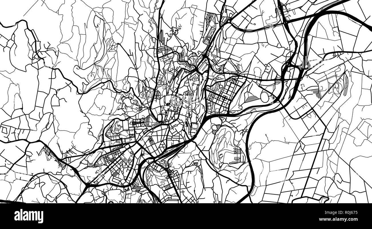Compostela map de santiago MICHELIN Santiago