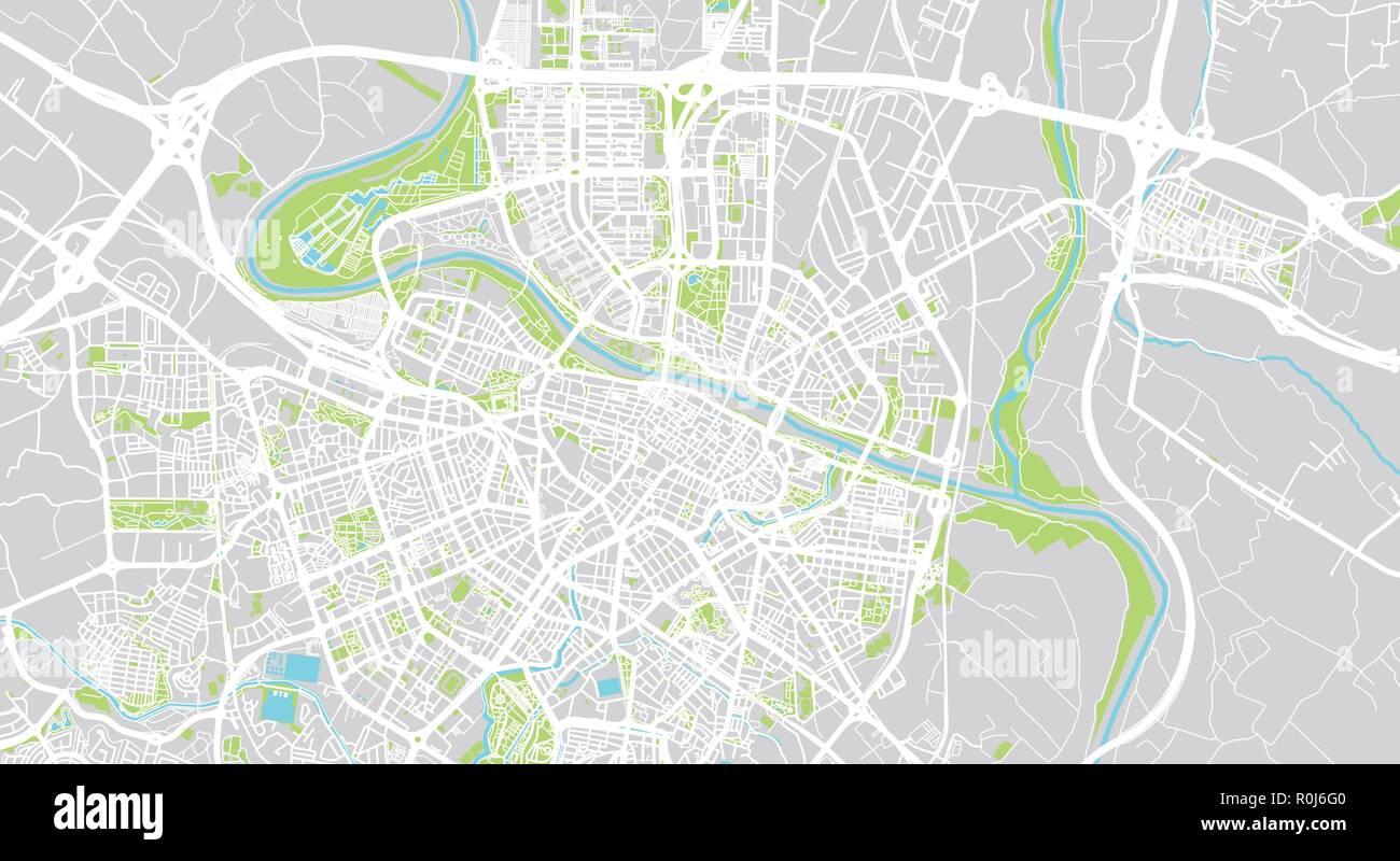 Mapa De Zaragoza Ciudad.Urban Vector City Map Of Zaragoza Spain Stock Vector Art