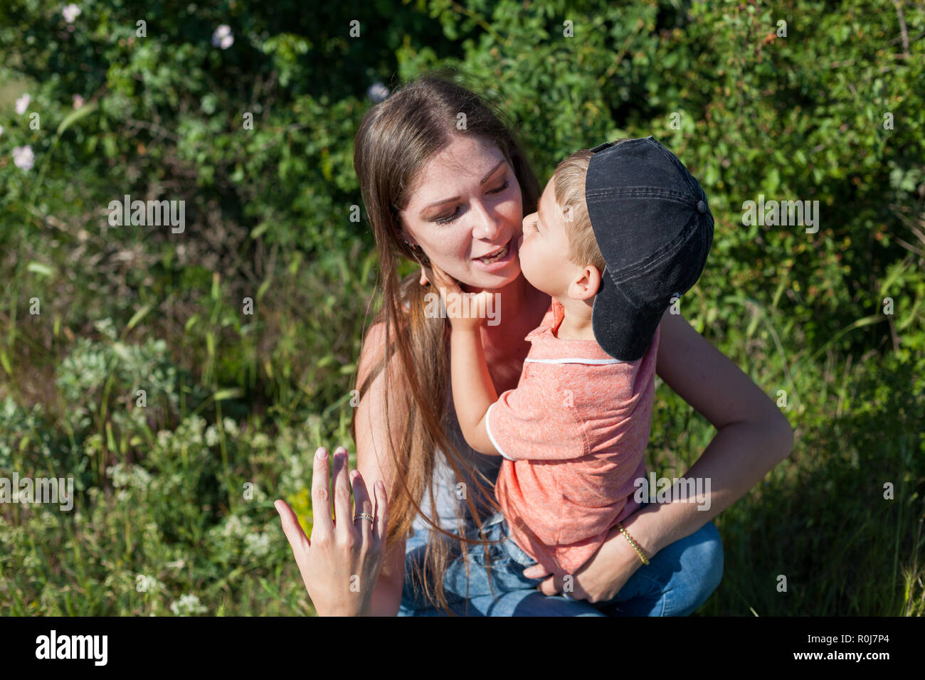 Boy Mature Young Mom