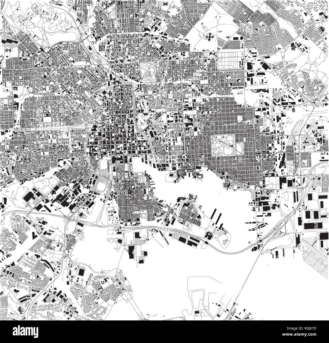 Satellite map of Baltimore, Maryland, city streets. Street ... on black and white portraits of women, latitude and longitude of usa, black and white map of asia,