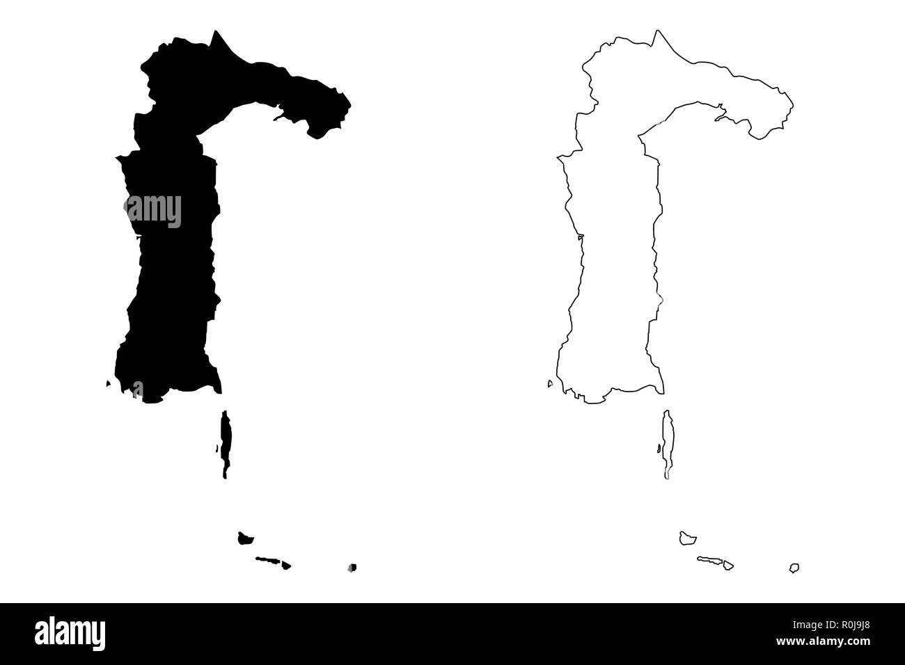 South Sulawesi (Subdivisions of Indonesia, Provinces of Indonesia) map vector illustration, scribble sketch South Sulawesi map - Stock Image