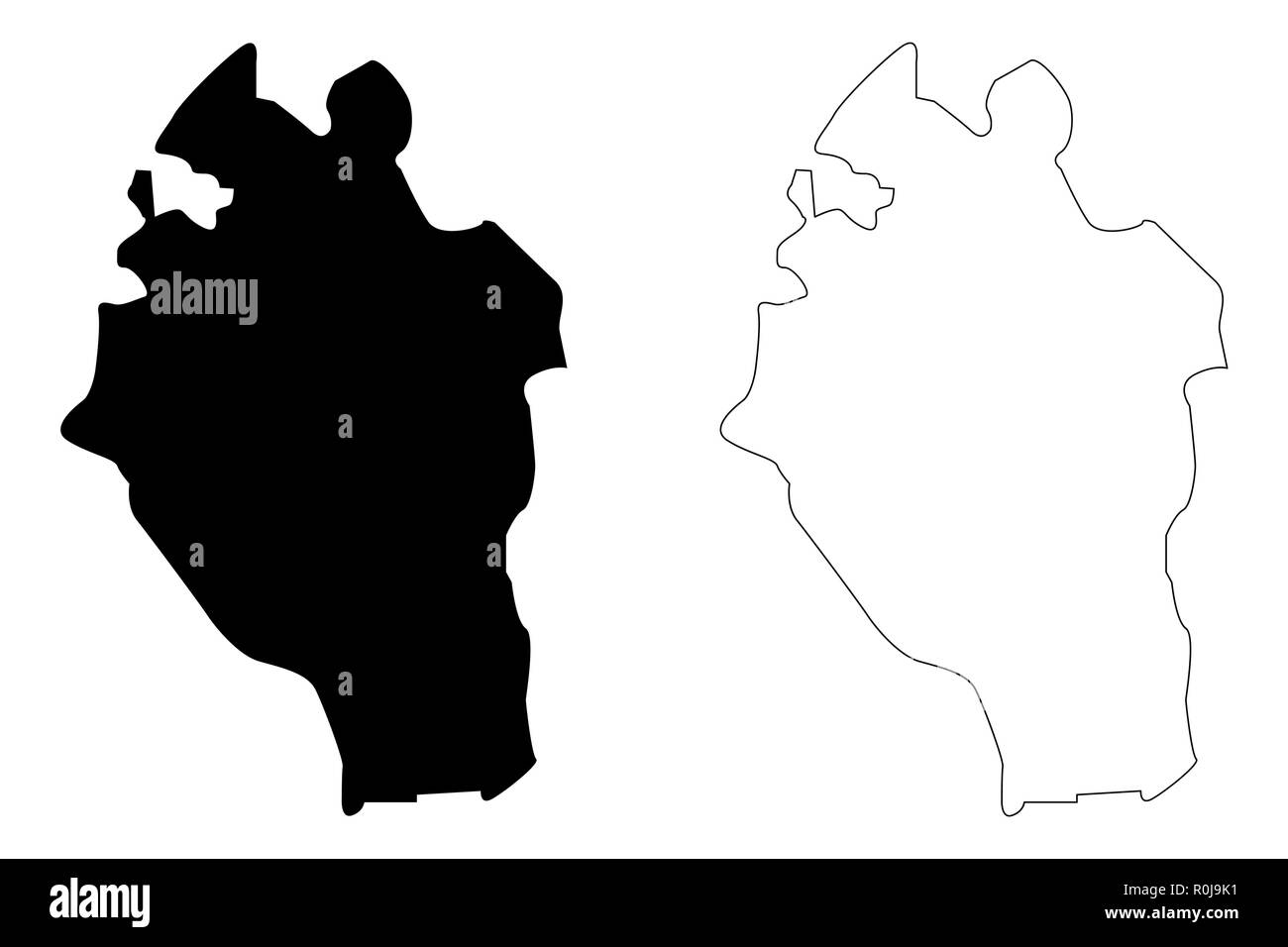 Kabaena Island (Subdivisions of Indonesia, Provinces of Indonesia) map vector illustration, scribble sketch Kabaena map - Stock Image