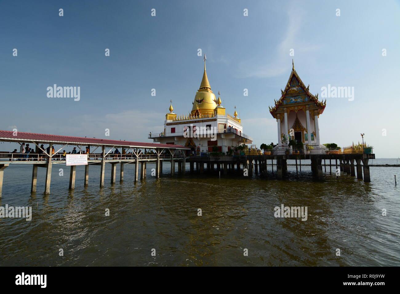Wat Hong Thong. Bang Pakong. Chachoengsao province. Thailand - Stock Image