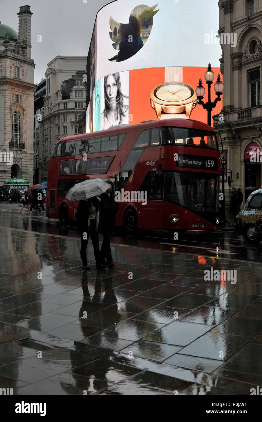 Piccadilly circus, London west end - Stock Image