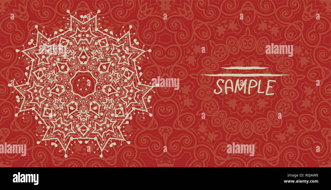 Wedding Or Invitation Card Design Made Of Tribal Style Lace Islamic