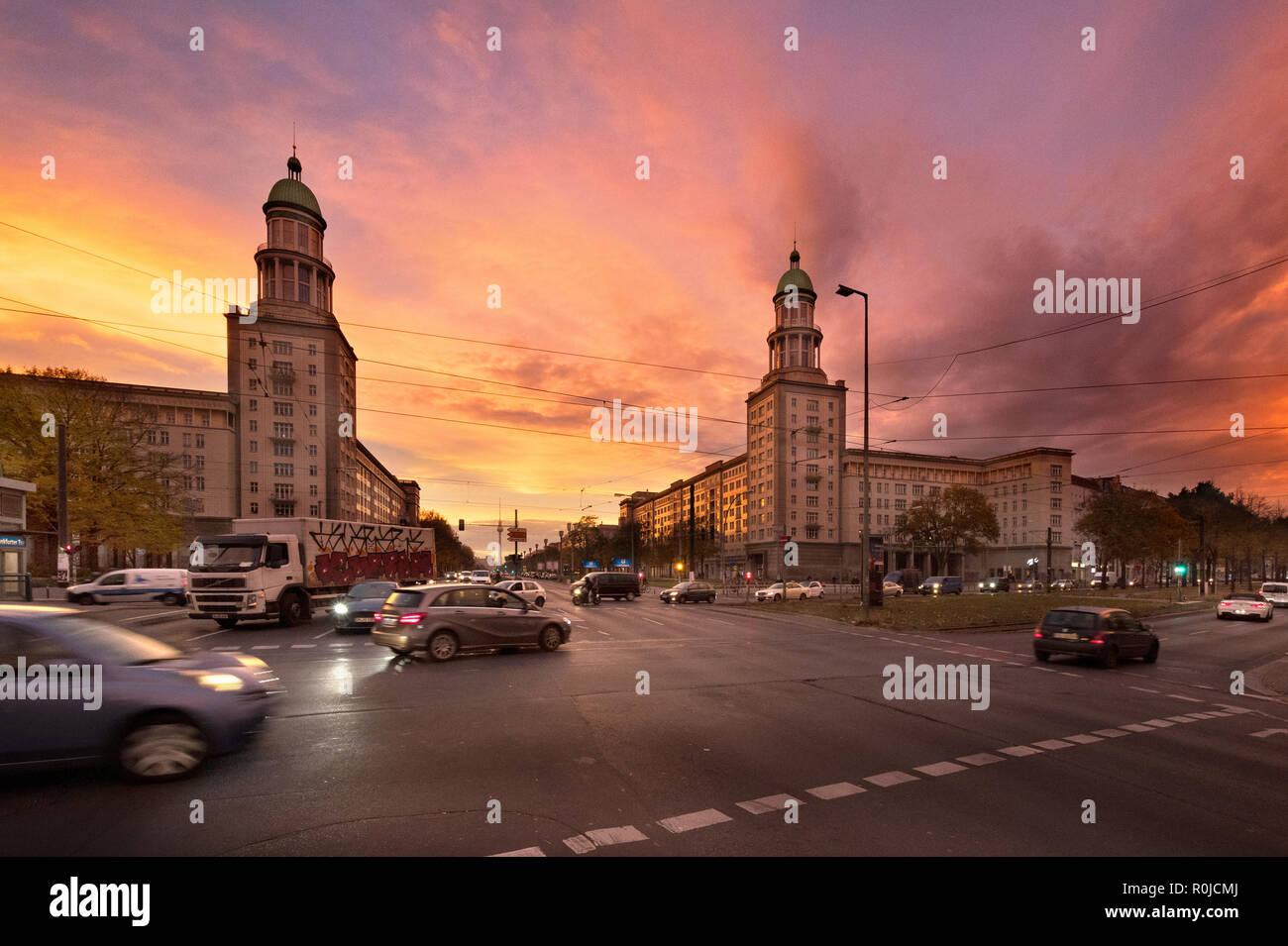 Frankfurter Tor, Friedrichshain, Berlin, Germany - Stock Image