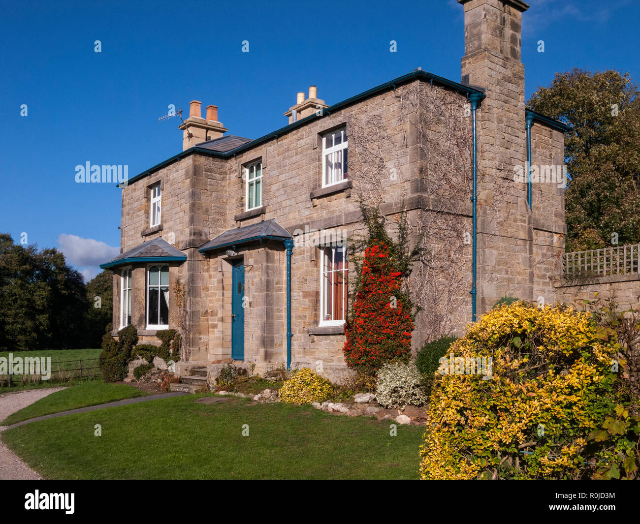Cottage, Chatsworth, Derbyshire - Stock Image