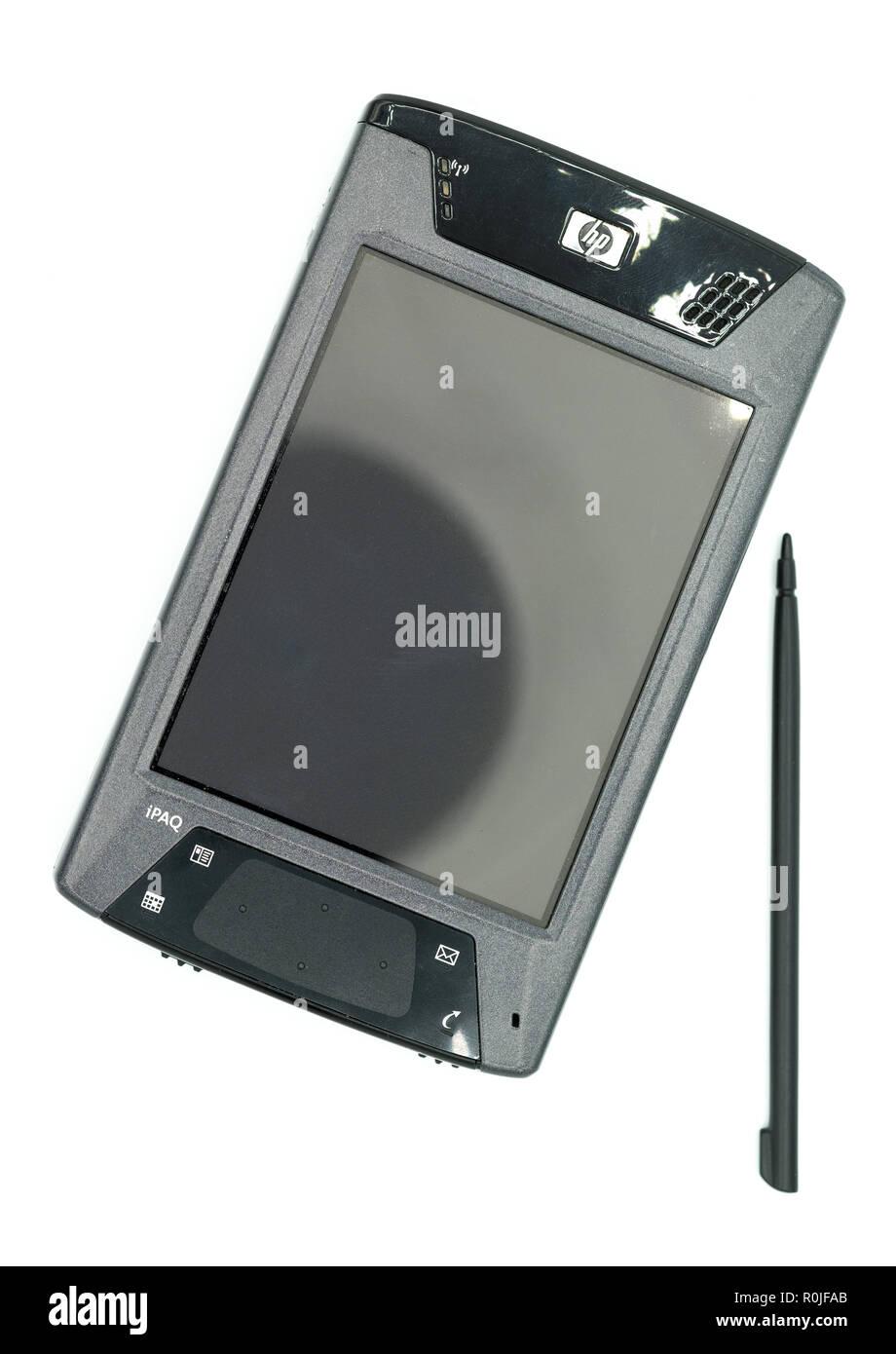 HP iPaq hx4700 PDA with stylus - Stock Image