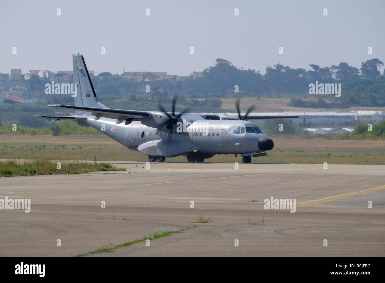 Portuguese Air Force EADS C-295M airplane at the Sintra Air Base, Portugal, Europe - Stock Image