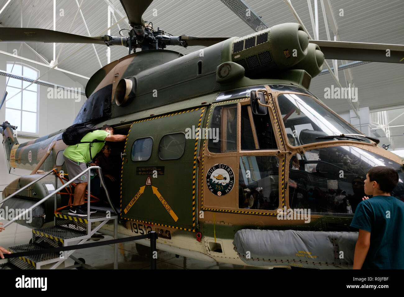 The Air Museum - Museu do Ar - aviation museum of the portuguese Air Force in Sintra Air Base, Portugal, Europe - Stock Image