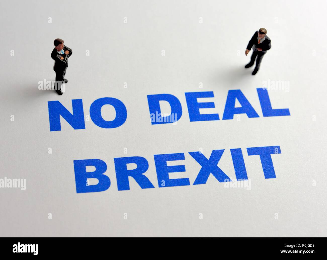 No Deal Brexit - Stock Image