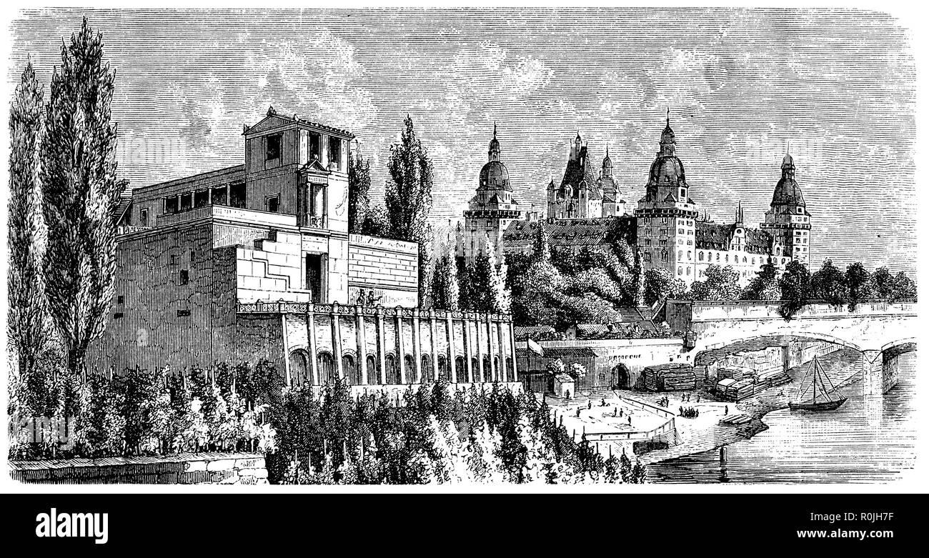 Pompeian house in Aschaffenburg, - Stock Image