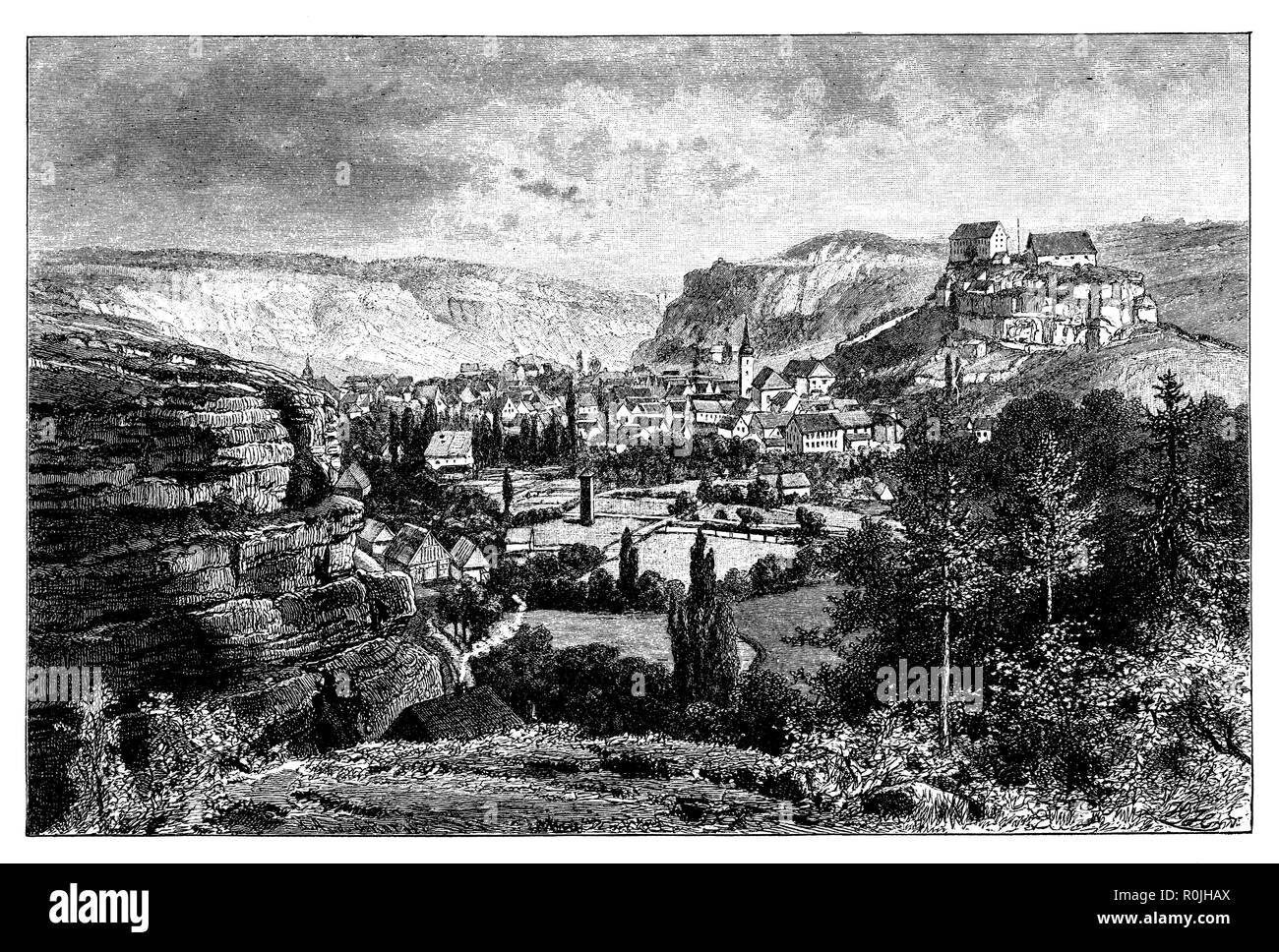 Pottenstein in the Franconian Jura,   1887 - Stock Image
