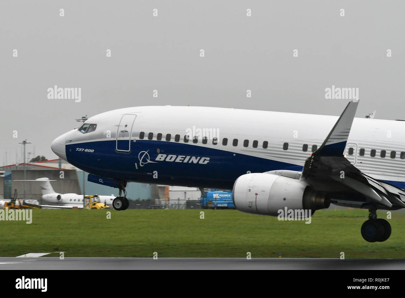 Ryanair Boeing 737-800 with dreamliner livery - Stock Image