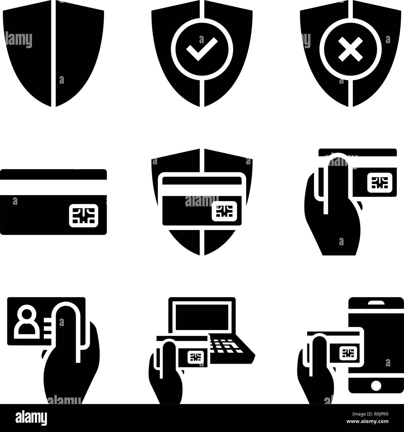 Secure Shopping Online - Stock Vector