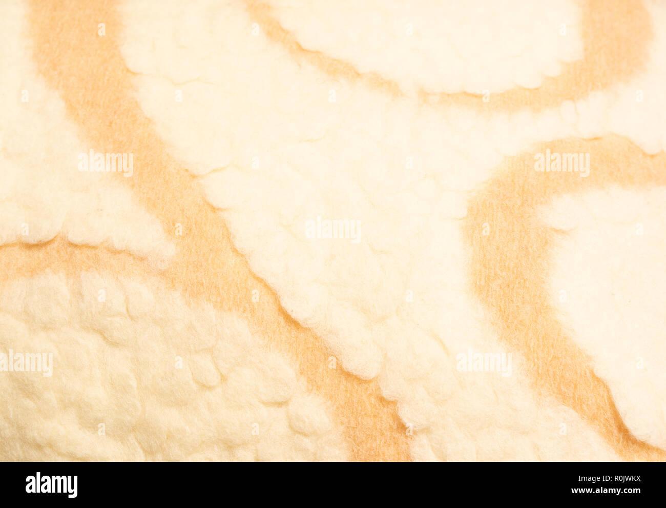 background of warm lamb wool close up - Stock Image