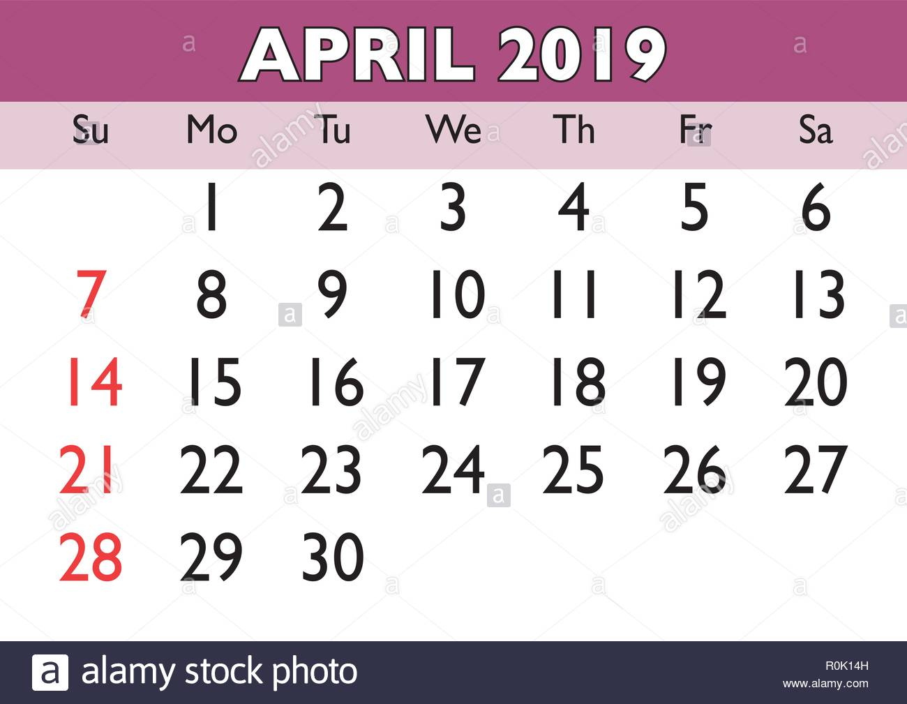 image relating to Printable Calendar April referred to as 2019 calendar April thirty day period. Vector printable calendar