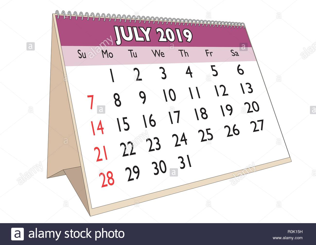 2019 Desk Calendar Cut Out Stock Images Pictures Alamy