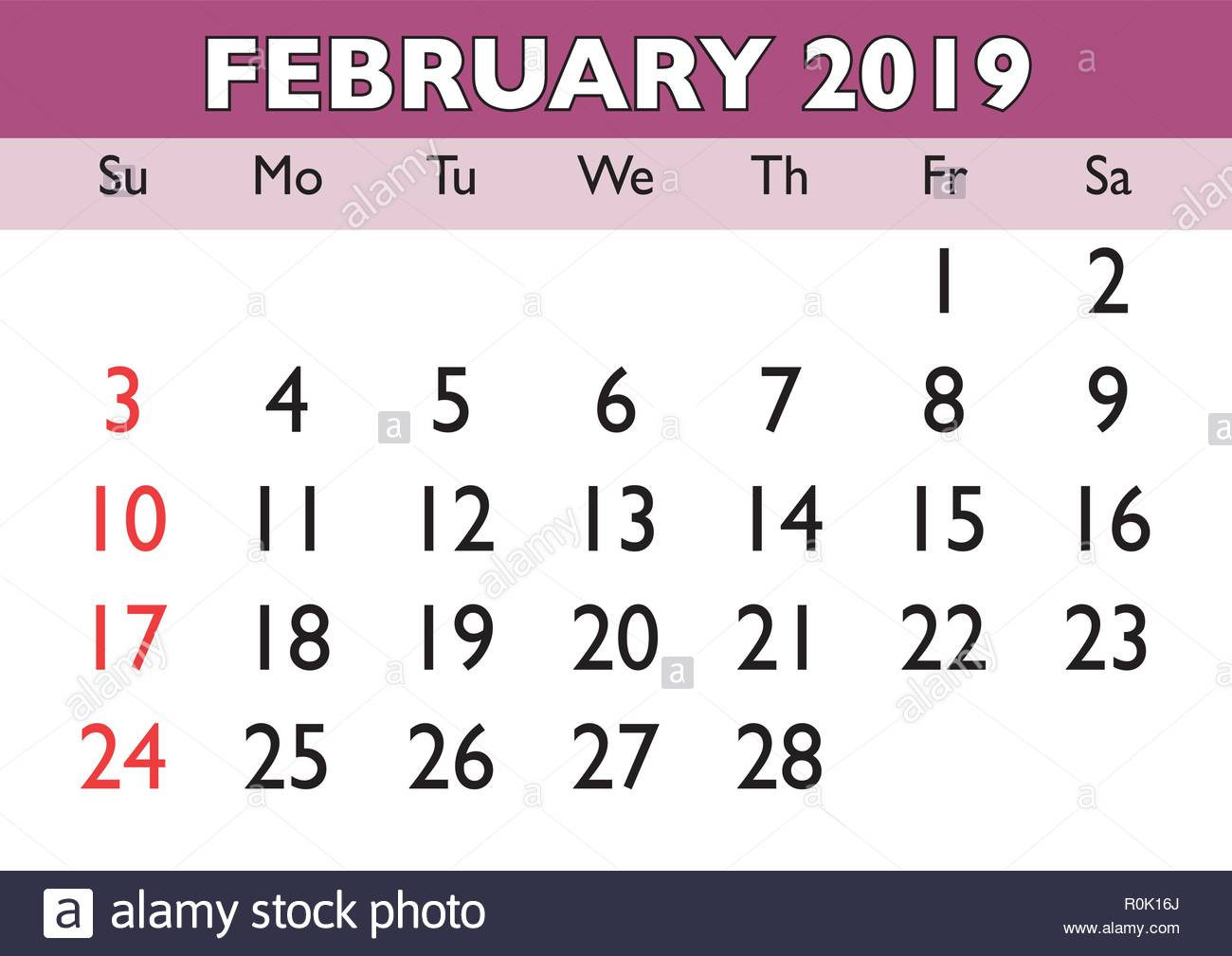 graphic relating to Printable Calendar February identify 2019 calendar February thirty day period. Vector printable calendar