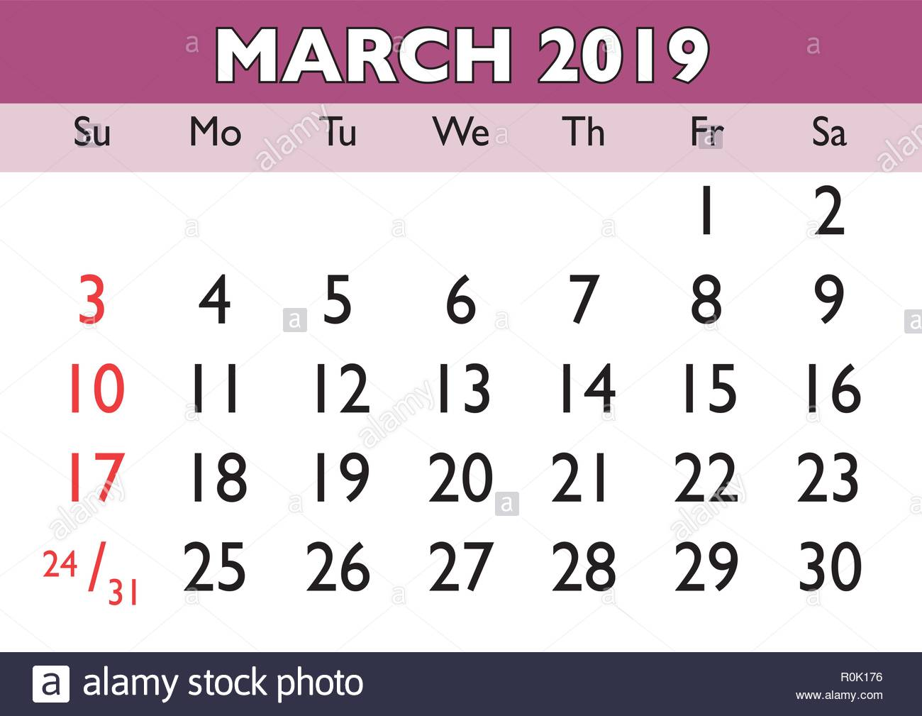 2019 calendar march month vector printable calendar monthly scheduler week starts on sunday english calendar