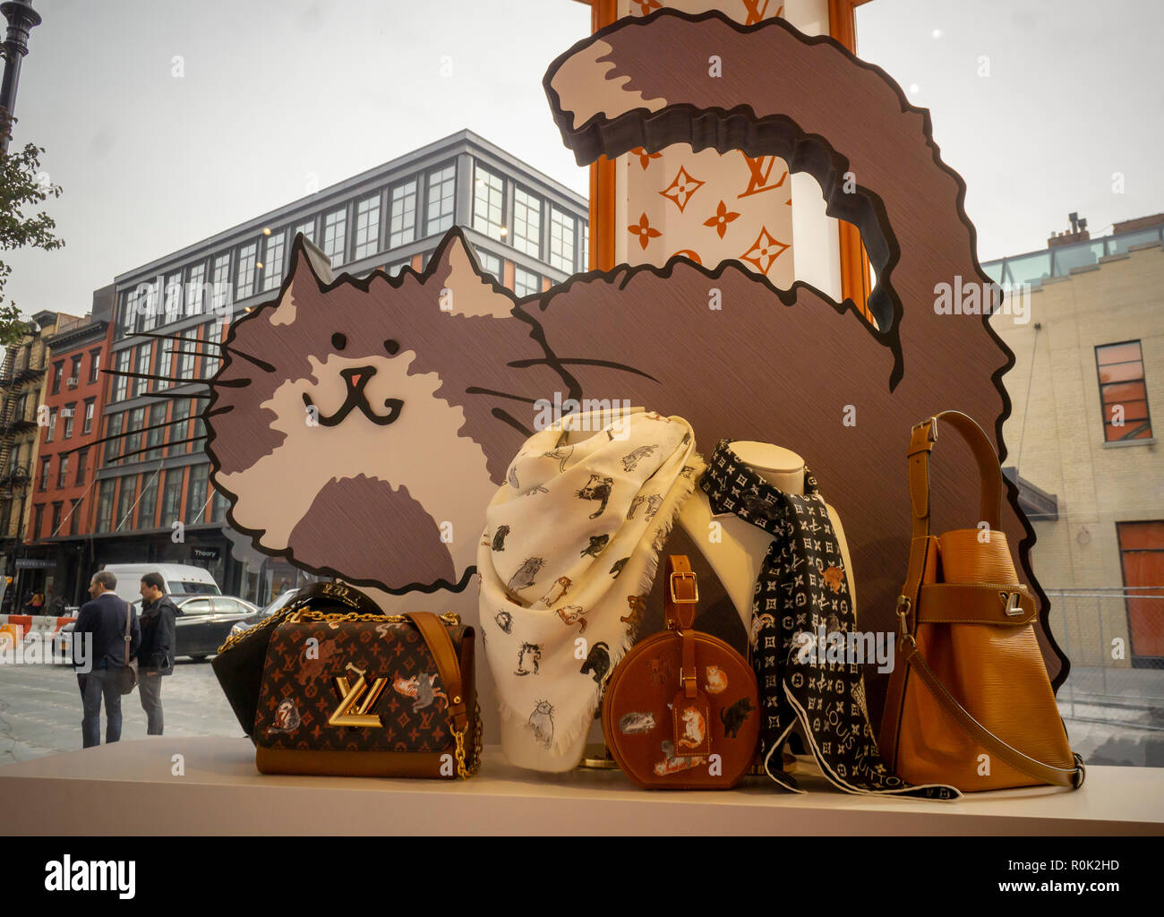 9e5ef654f6d0 A cat-themed collaboration between he Louis Vuitton and fashion editor Grace  Coddington opens a