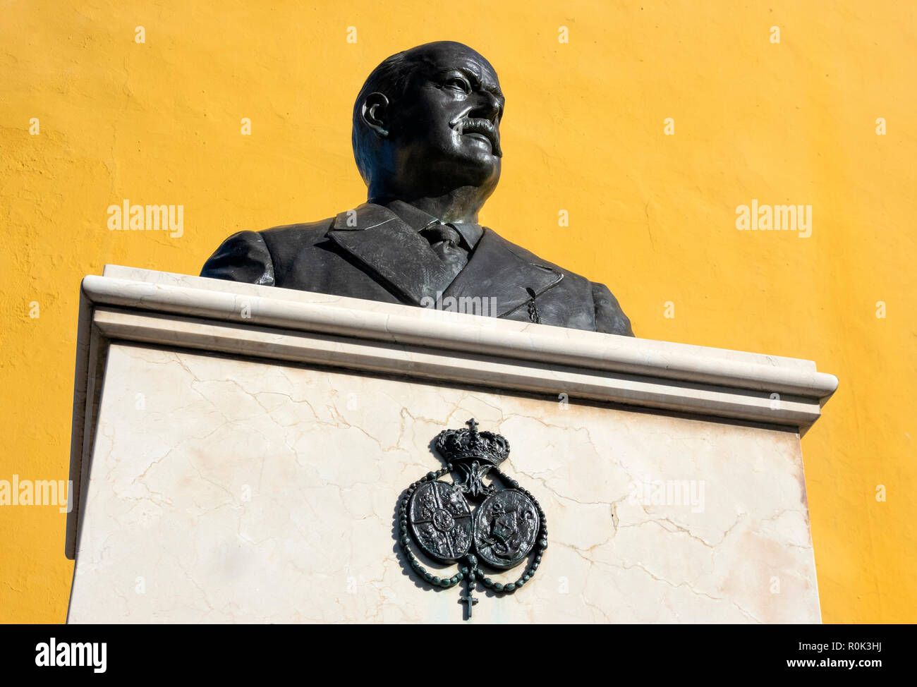 Monument for Juan Manuel Rodríguez Ojeda in Seville, Spain - Stock Image