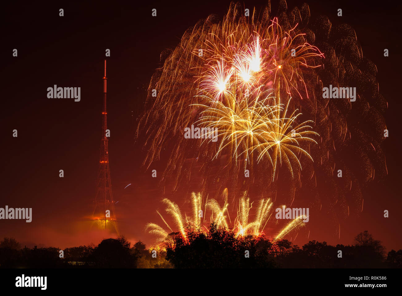 5th November Fireworks London Stock Photos and Images