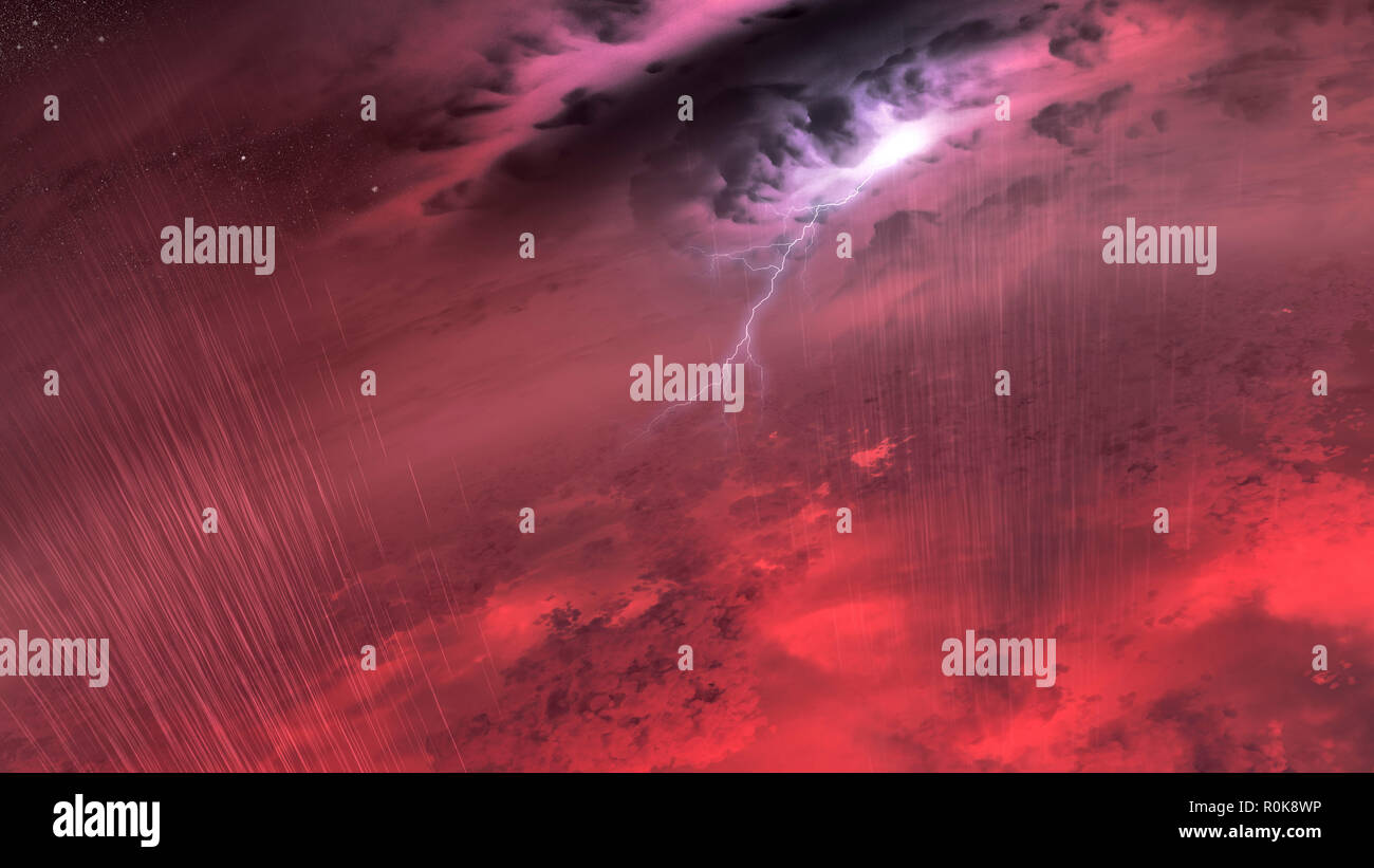 Conceptual image of what the weather might look like on a brown dwarf star. - Stock Image