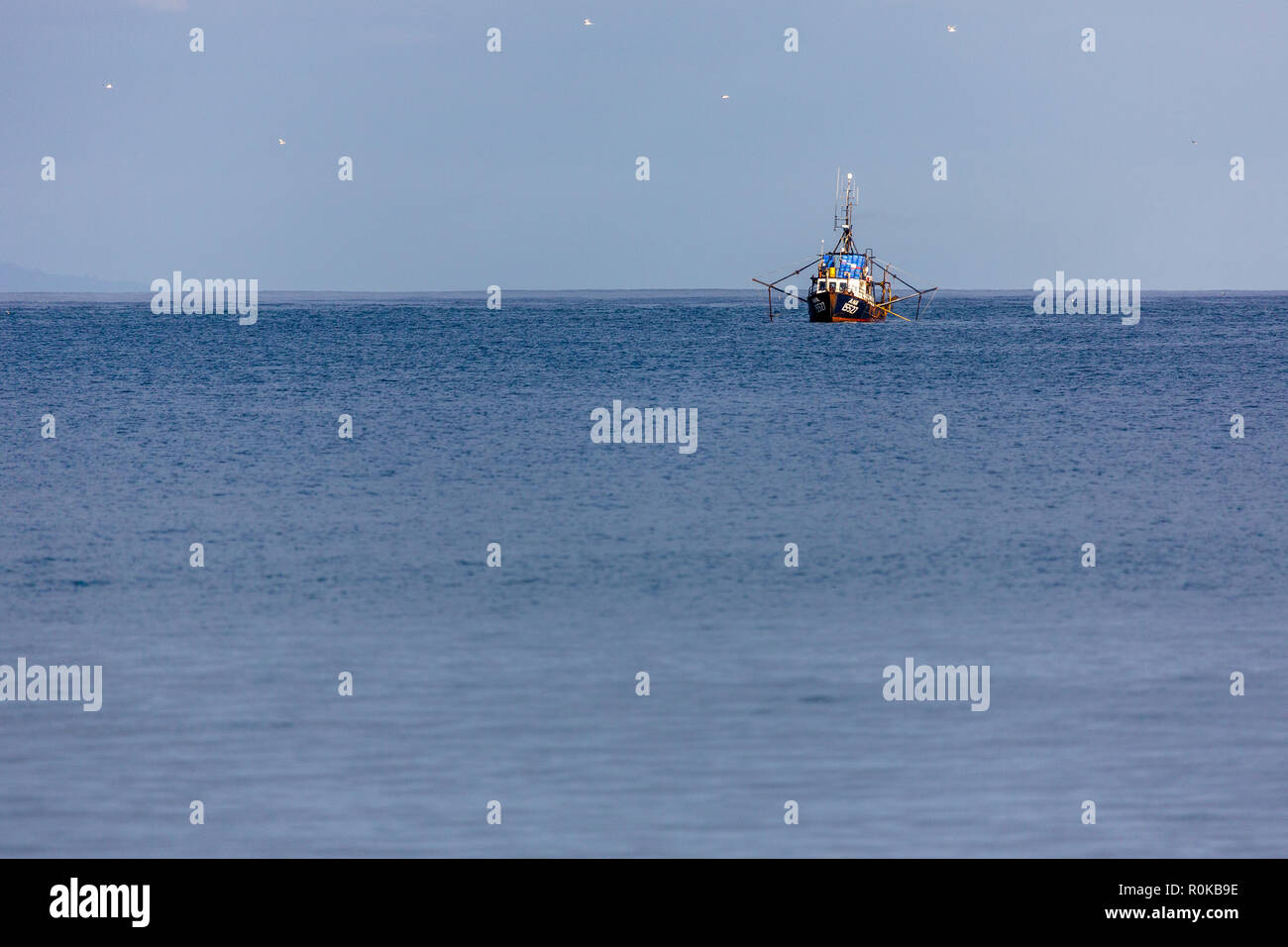 Fisherboat on the Hauraki Gulf, New Zealand - Stock Image