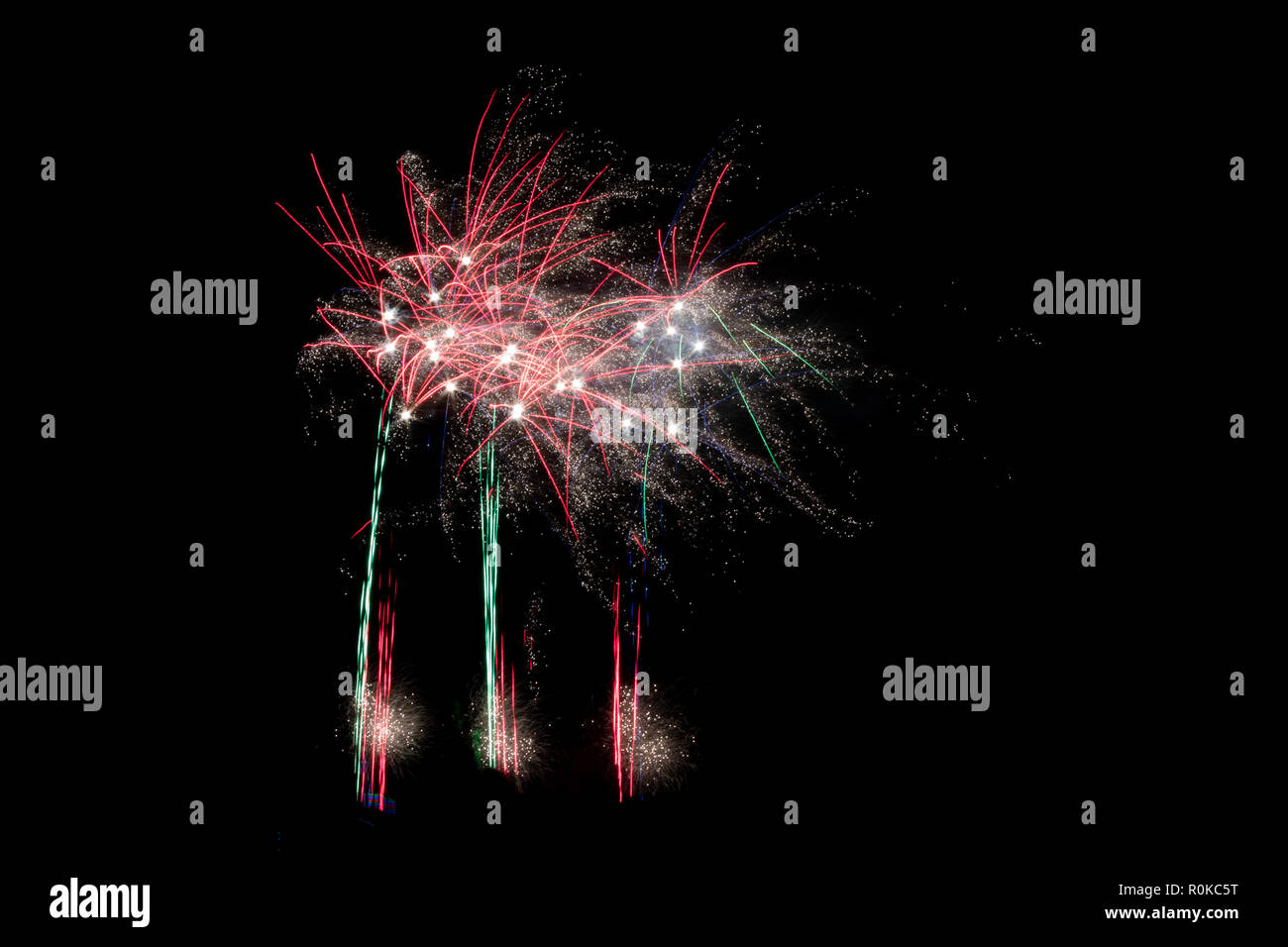 Bolton, England, UK - November 2, 2018: Another star sparkling success for Bolton's Annual Big Fireworks night at Leverhulme Park. - Stock Image
